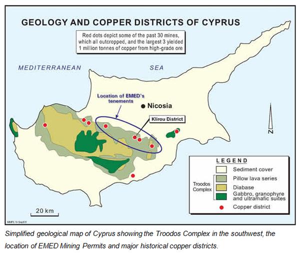 mapa chipre