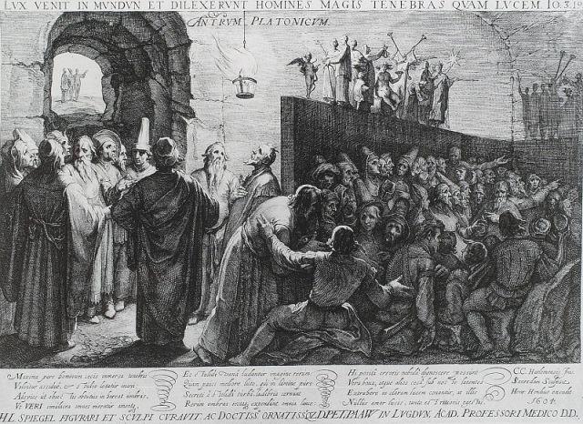 Adaptación del siglo XVII sobre la alegoría de la caverna
