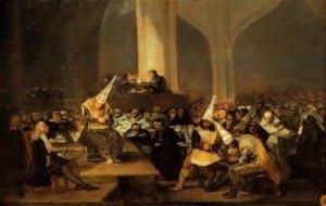 Values, Auto da fe Goya 1816