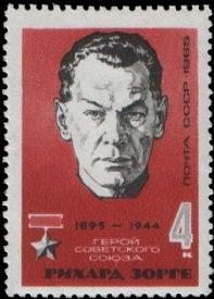 Sello conmemorativo soviético con la imagen de Sorge