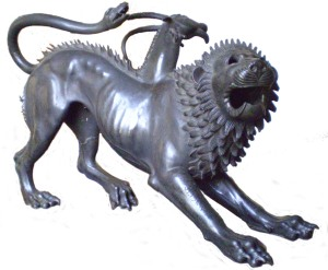 Estatua que representa a una Quimera