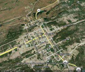 Google maps reconoce calles y carreteras done ahora casi no hay nada