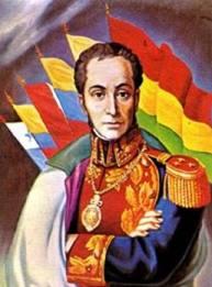 Simón Bolivar, presentado como el padre de sudamérica