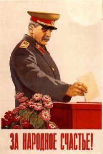 Votando propaganda