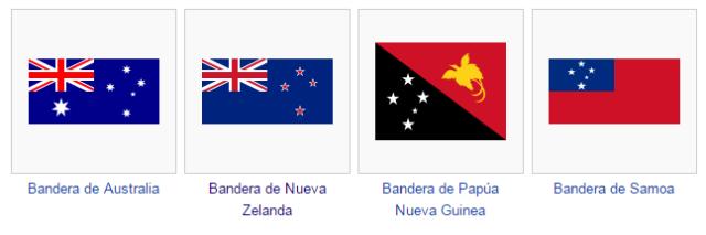 Banderas cruz del sur