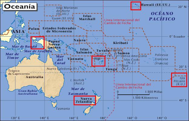 Polinesia mapa