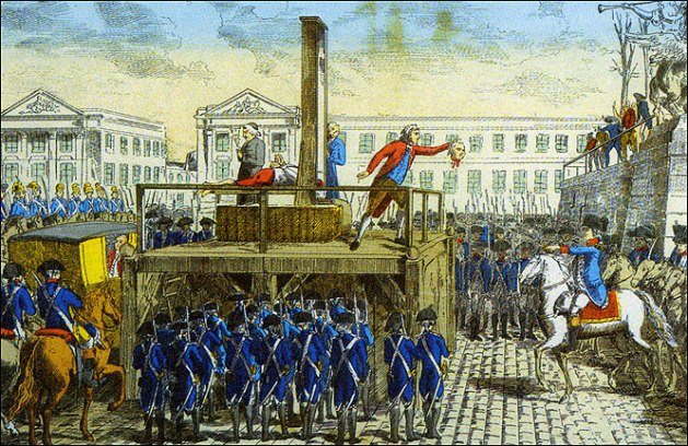 Luis XVI guillotina