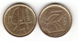 Duro 5 peseta