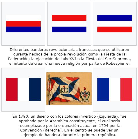 Bandera tricolor francesa