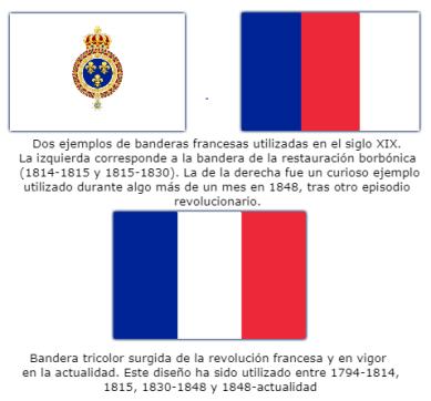 Banderas francesas siglo XIX
