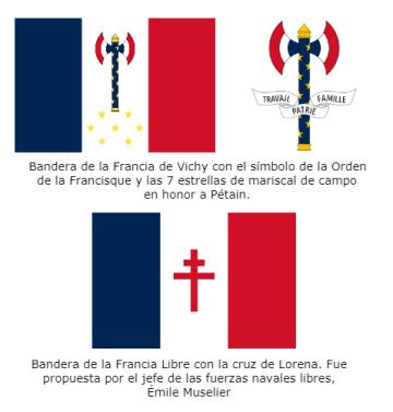 Banderas Francia Segunda Guerra Mundial