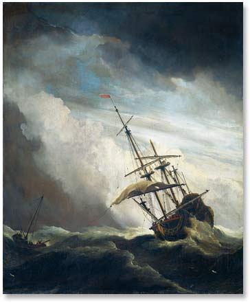 barco durante tormenta