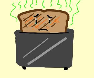 dibujo de tostada maloliente