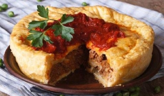Foto de pastel de carne australiano