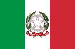 Bandera de Italia con emblema