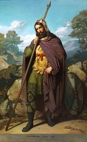 Imagen del rey visigodo Leovigildo