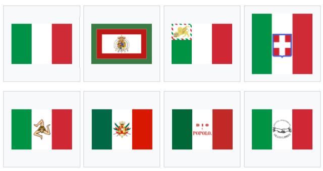 Banderas italianas previas al risorgimento