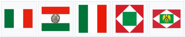 Banderas tricolor italianas durante la ocupación napoleónica